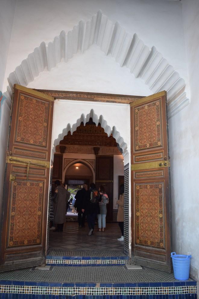 Marrakech palacio bahia teto porta