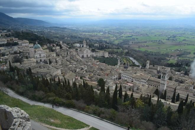 Assis Umbria Rocca maggiore castelo vista 2