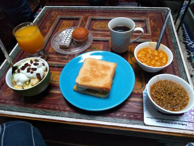 Marrocos comida típica provar café da manhã