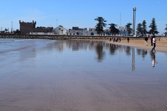 Marrocos Essaouira fortaleza vista da praia