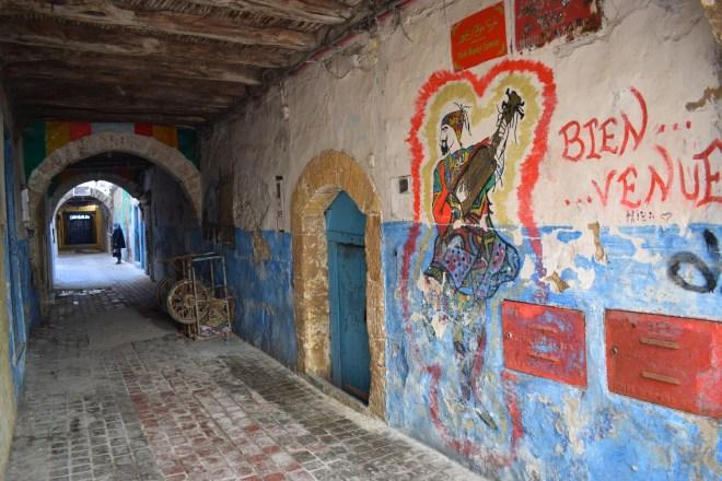 Marrocos Essaouira ruas coloridas