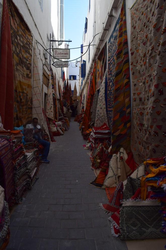 Marrocos Essaouira souqs tapetes