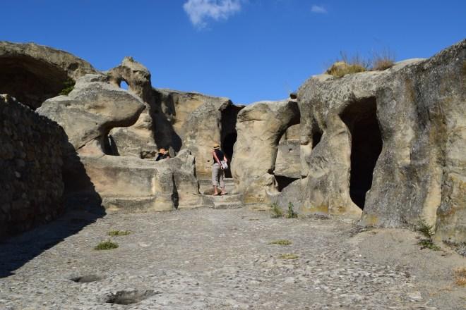 Uplistsikhe cidade cavernas Georgia casas
