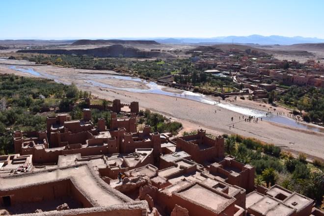 Ait Ben Haddou sul marrocos vista alto cidade