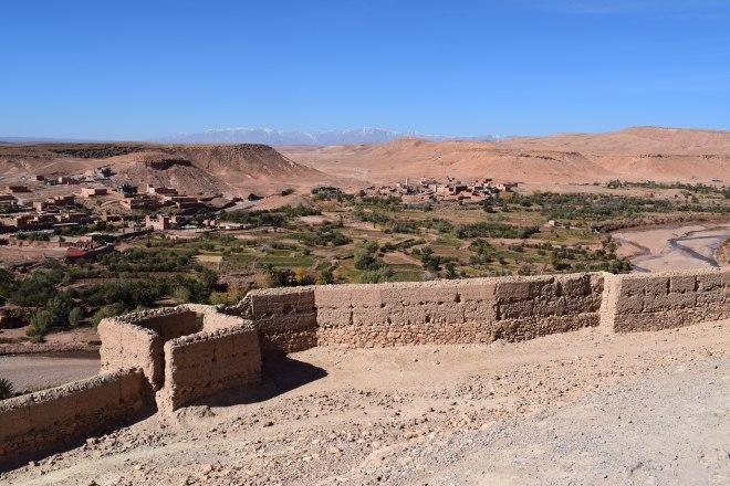 Ait Ben Haddou sul marrocos vista do alto da fortaleza