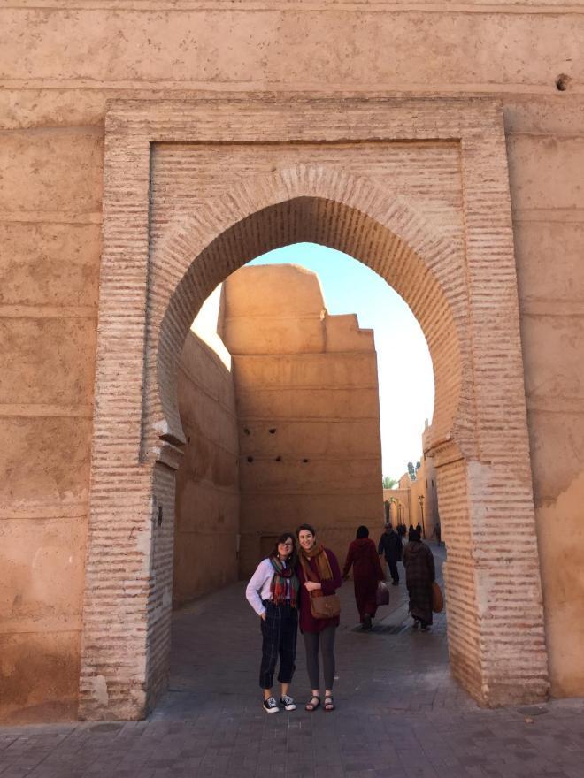 Marrakech medina arcos