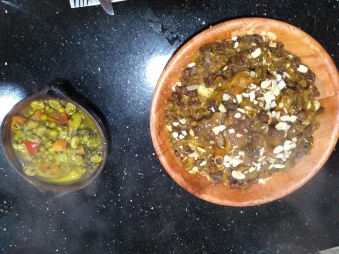 Marrocos aula culinária café clock tagine carneiro alcachofra