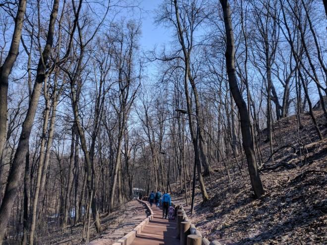 Moscou Parque Gorki colina pardais