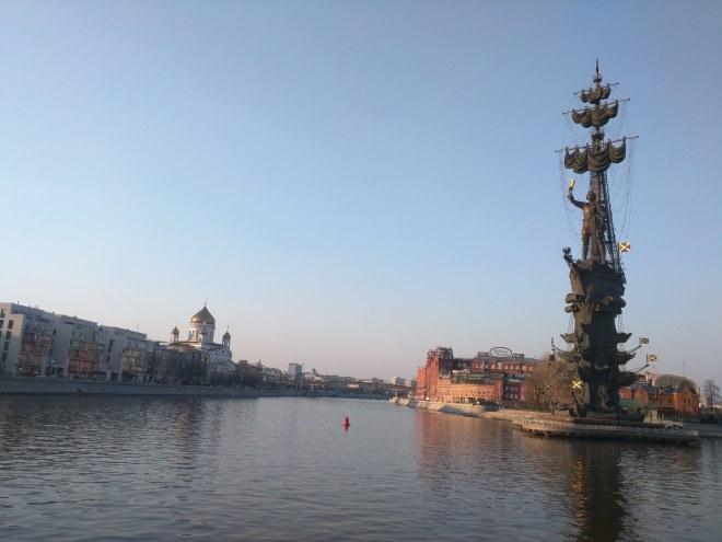 Moscou Parque Gorki estatua pedro o grande