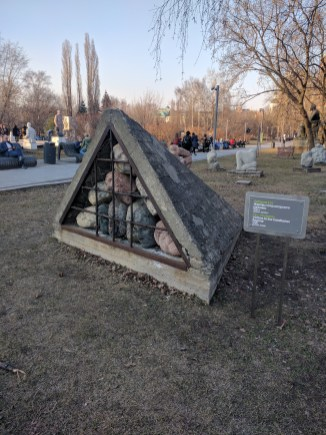 Moscou Parque muzeon esculturas rostos
