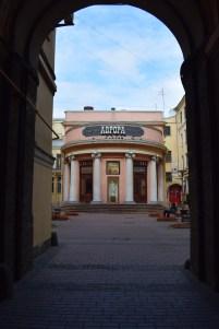 Russia Petersburgo itinerário Avenida Nevski cinema aurora