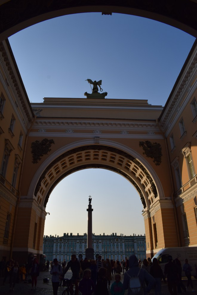 Russia Petersburgo vista para o palacio de inverno estados gerais
