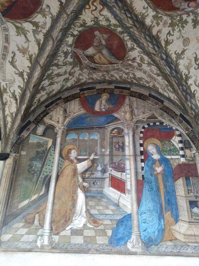 Genova santa maria castello afresco