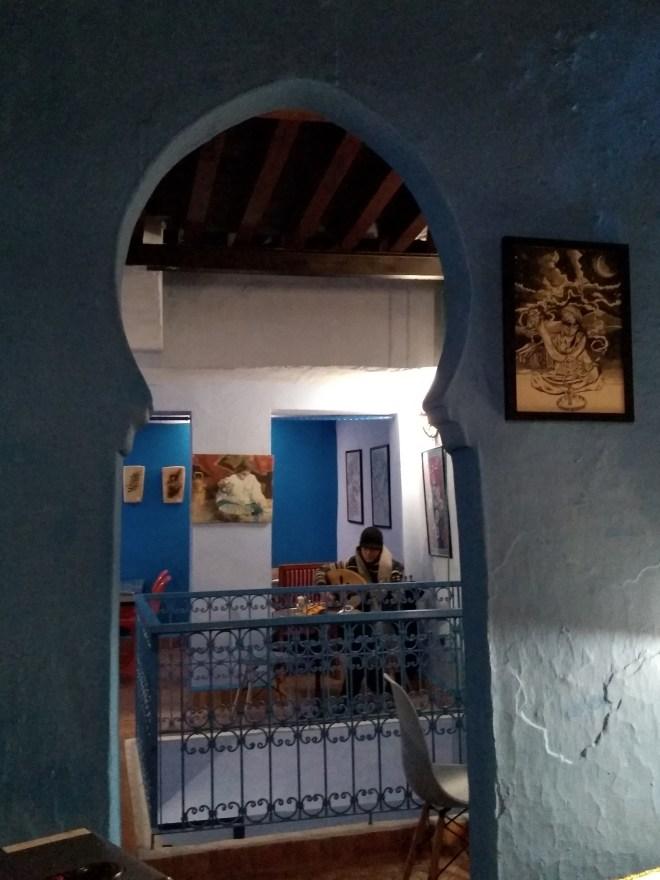 Marrocos Chefchaouen cidade azul Café Clock musica ao vivo