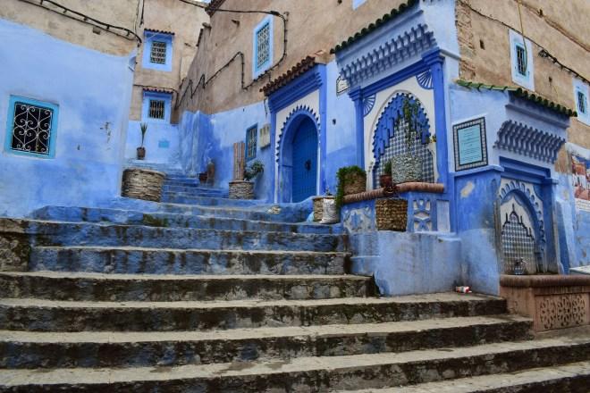 Marrocos Chefhaouen cidade azul fontes água