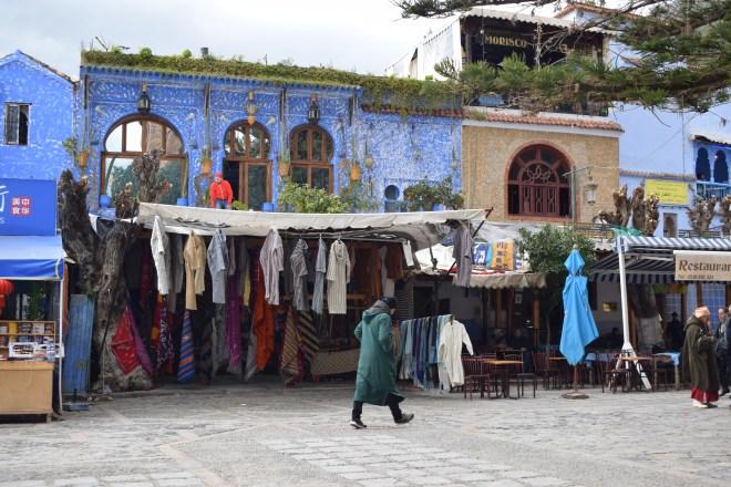 Marrocos Chefhaouen cidade azul plaza uta el hammam