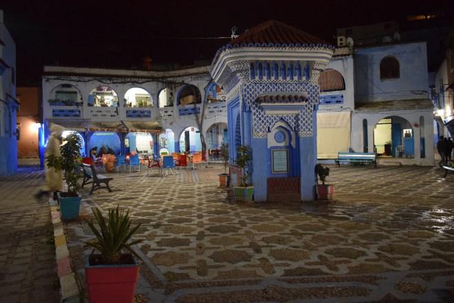 Marrocos Chefhaouen cidade azul praça medina