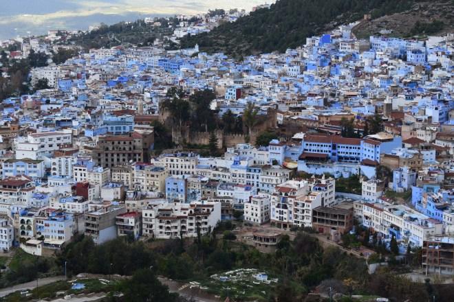 Marrocos Chefhaouen cidade azul trilha mesquita espanhola vista medina 3