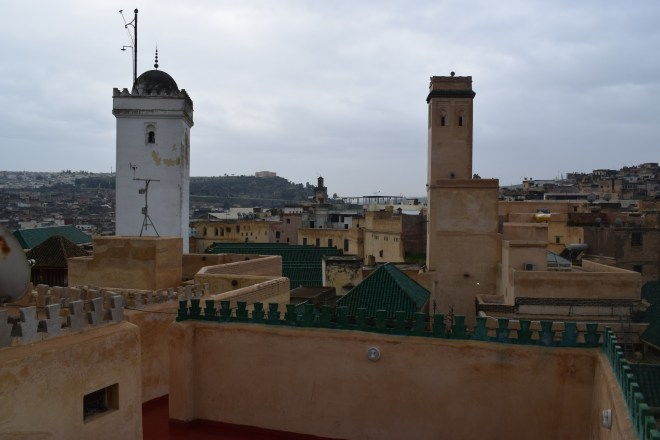 Marrocos Fez mausoleu moulay idriss ii visto de cima