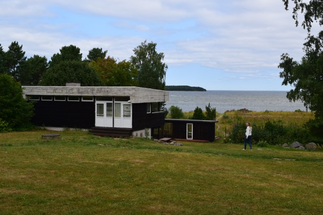 Excursão lazer soviético estonia hotel modernista praia sauna