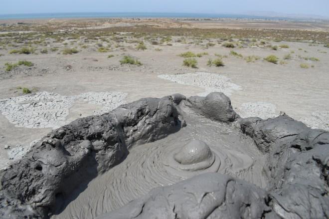 Azerbaijão Qobustan vulcões de lama 2