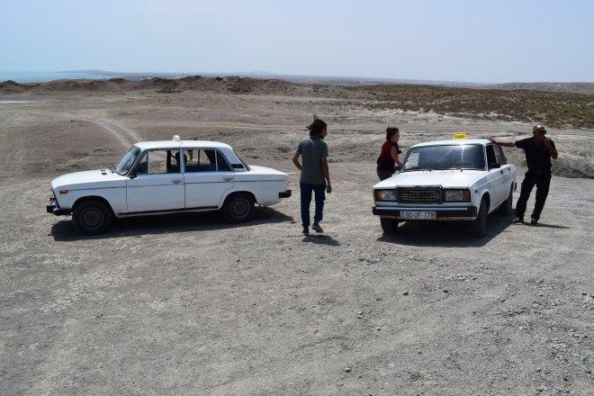 Azerbaijão Qobustan vulcões de lama ladas