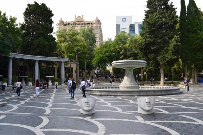 Baku centro historico praça fontes