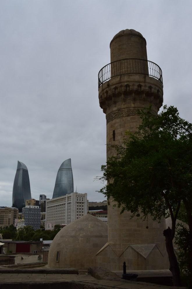 Baku palácio Shirvanshah mesquita do palácio