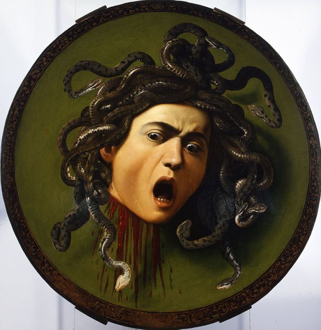 Galeria Uffizi Florença caravaggio medusa
