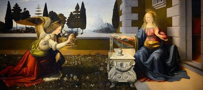 Galeria Uffizi Florença da vinci anunciação