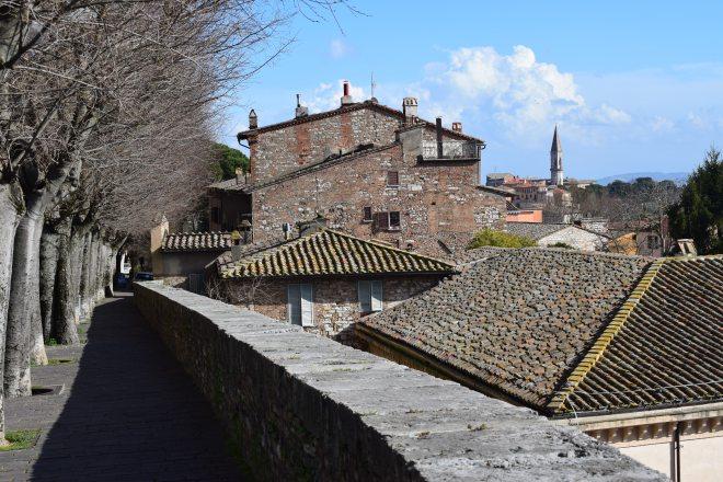 Perugia alto muralhas