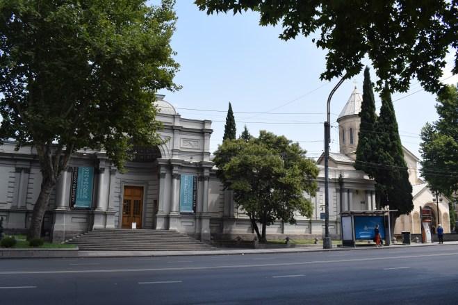 Tbilisi Rustavelli igreja kashveti e galeria nacional