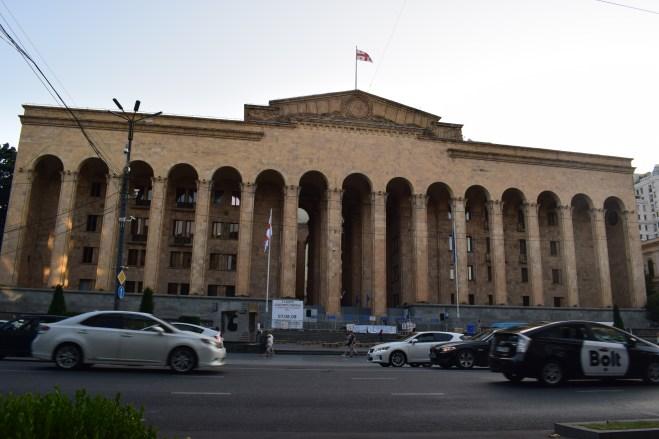 Tbilisi Rustavelli parlamento prédio historico