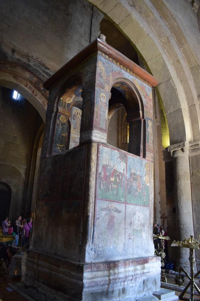 Georgia Mtskheta catedral Svetitskhoveli pulpito