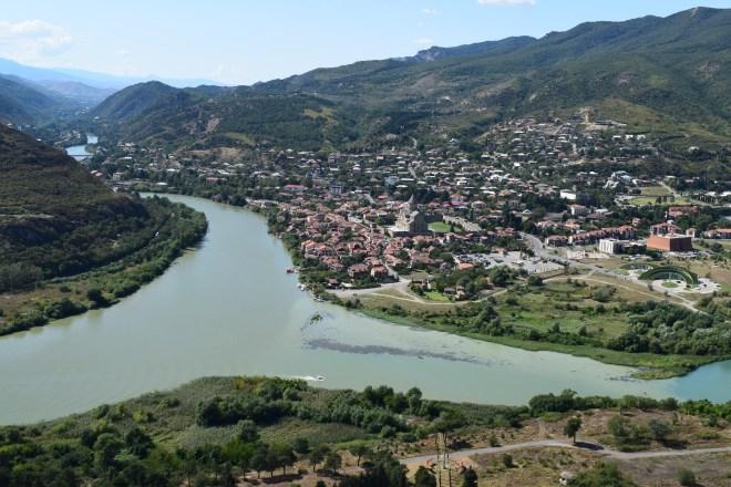 Georgia Mtskheta monasterio jvari vista cidade