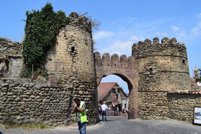Georgia Sighnaghi entrada centro historico