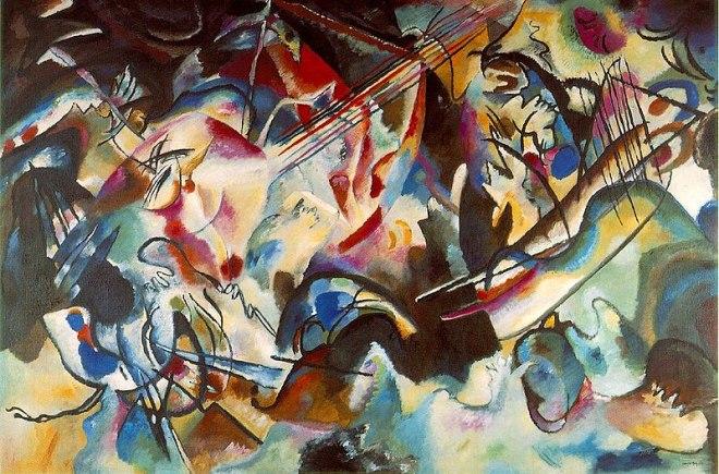 Hermitage estados gerais predio dos impressionistas Kandinski Composição 6