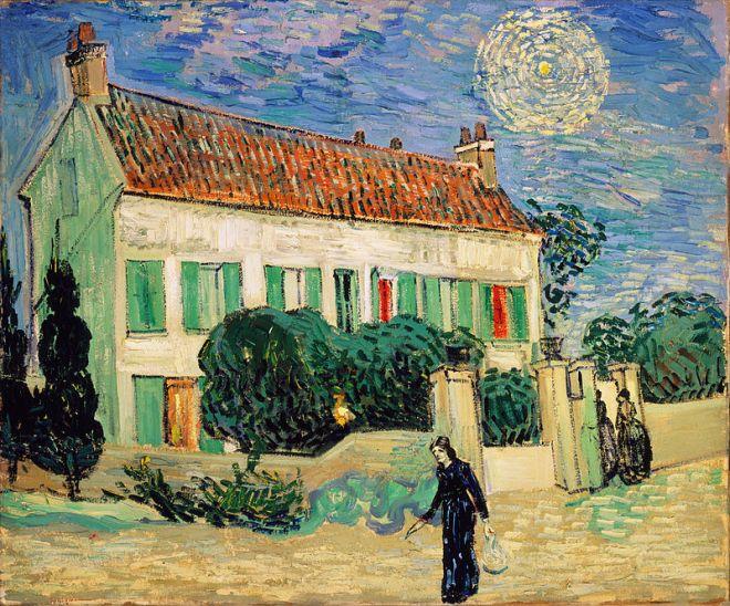 Hermitage estados gerais predio dos impressionistas van gogh casa branca noite