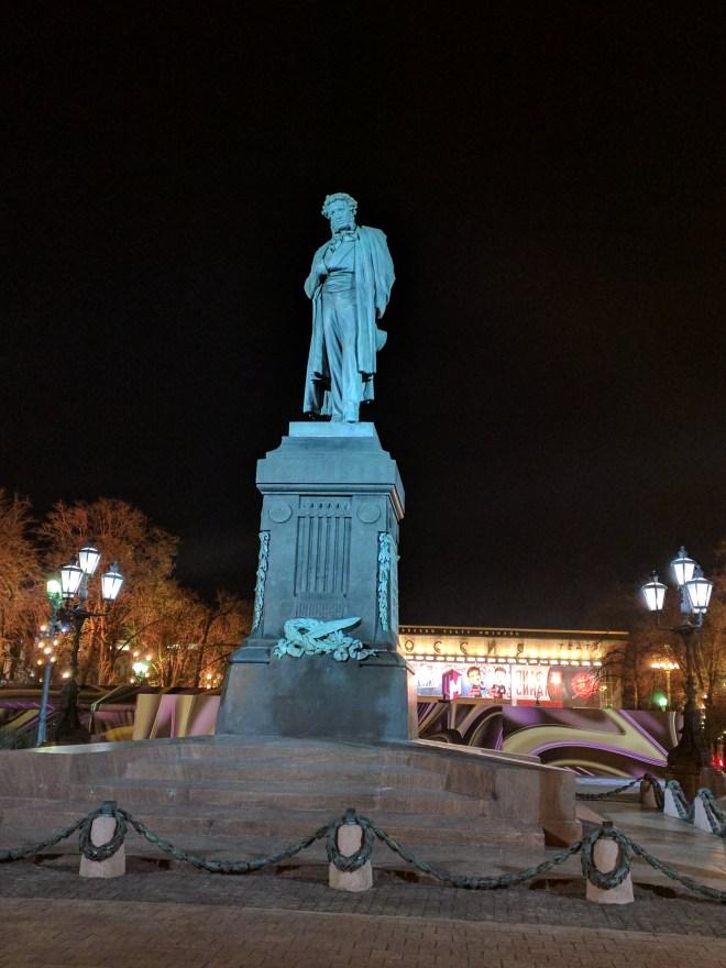 Moscou Tverskaia Estátua Púchkin poeta russo