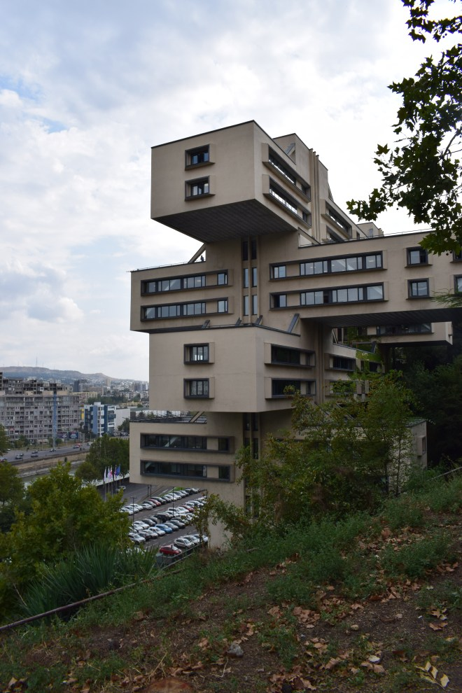 Tbilisi arquitetura sovietica banco da georgia