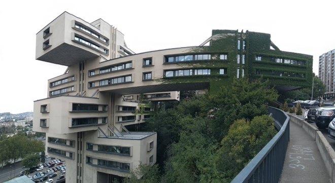 Tbilisi arquitetura sovietica panorama banco georgia