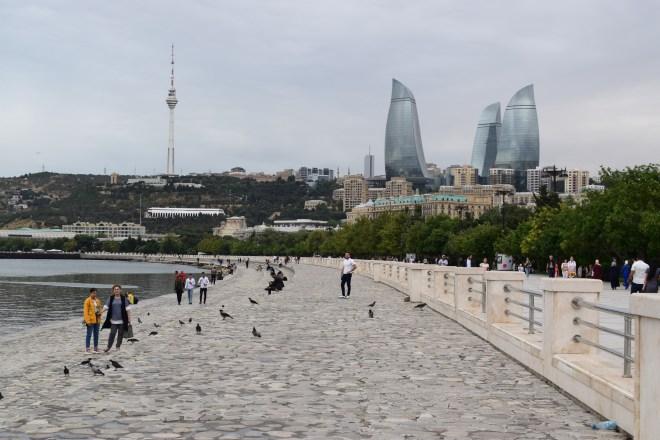 Baku Boulevard parte moderna cidade 1