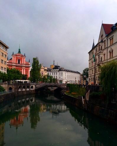 Margens rio Ljubljana