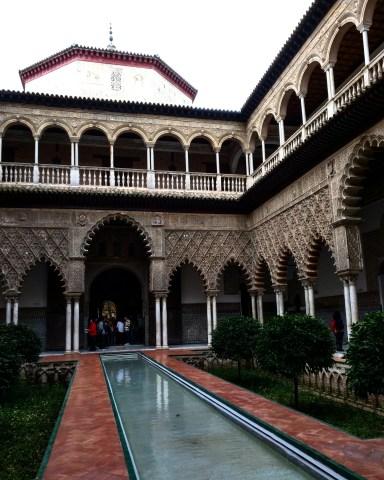 Alcazar Sevilha palácio patio donzelas 3