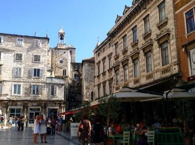Praça dentro do Palácio de Diocleciano Split