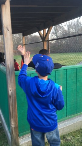High Five for cousin Jordan after his baseball game!