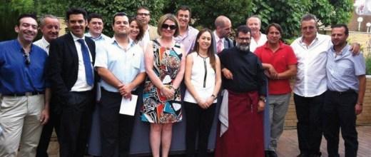 Foto del grupo de la Junta Directiva que celebramos el pasado 18 de julio en el restaurante Urkiola Mendi de la capital