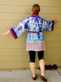 Lekala hand dyed silk robe