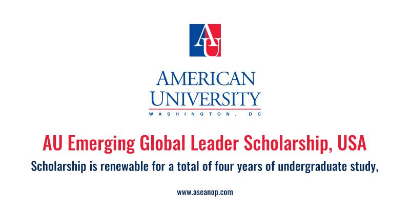 """Résultat de recherche d'images pour """"AU Emerging Global Leader Scholarship"""""""