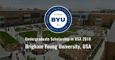 Brigham Young University International Undergraduate Scholarships 2018/USA.